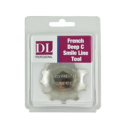 Derbra Lynn Dl-C311 French Acrylic Gel Cutter Tool Pink & White Cutter Deep C Smile Line