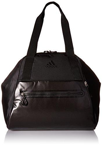 adidas Studio Hybrid Tote Bag, One Size, Black/Black Metallic (Adidas Womens Gym)