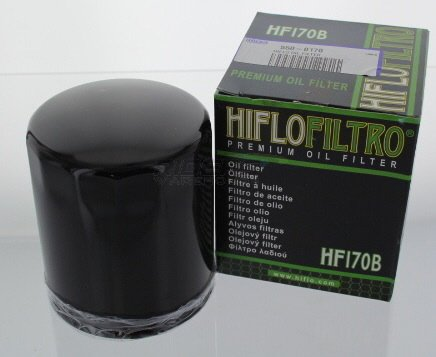 Hiflo Oil Filter Black Hf170B Blk Evo Bt/Xl
