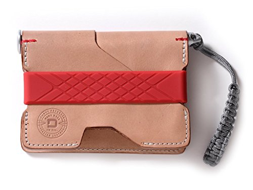 - Dango P01 Pioneer EDC Wallet - Made in USA - Italian Veg-Tanned Leather, RFID Blocking, CNC Space Ink Pen, 48-Page Notebook