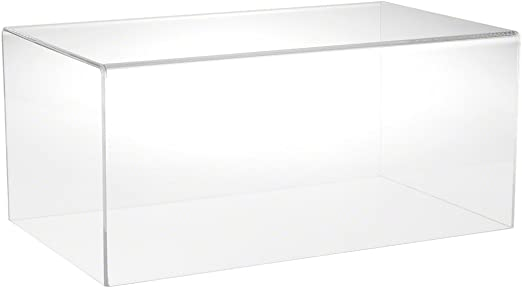 """9/"""" W x 3.5/"""" D x 3/"""" H Plymor Clear Acrylic Display Case with No Base"""