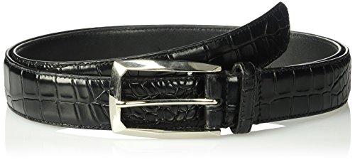 Stacy Adams Men's Big-tall Ozzie Big & Tall Croc Embossed Belt, black, 50