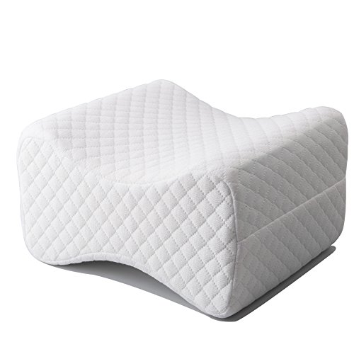 Tebery Luxury Wedge Contour Memory Foam Knee Pillow With Breathable Cover - Premium Orthopedic Leg Pillow - Excellent For Relieves Sciatic Nerve, Leg , Back, Hip, And Joint Pain by Tebery