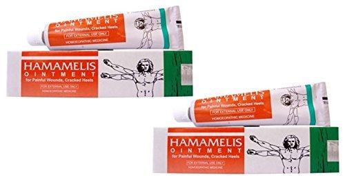 2 x Bakson's Homeopathy - Hamamelis Ointment Bleeding Piles - 25g - Hamamelis Ointment