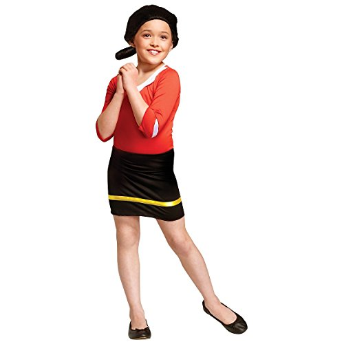 Olive Oyl Costume - Large (Olive Oyl Fancy Dress)