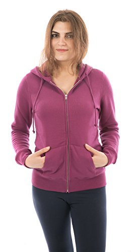 Women Fleece Hoodies Full Sleeve-Front Zip Premium Hood 2 Kangaroo Split Pocket