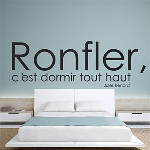 Decal-Carnival Lettering Words Wall Mural DIY Removable Sticker Decoration Stickers Quote Ronfler C'est Dormir Tout Haut Fox