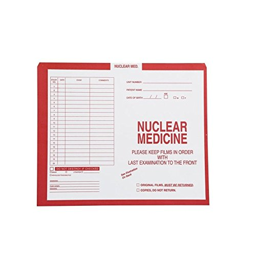 Nuclear Medicine, Red #185 - Category Insert Jackets, System I, Open Top - 10-1/2'' x 12-1/2'' (Carton of 250)