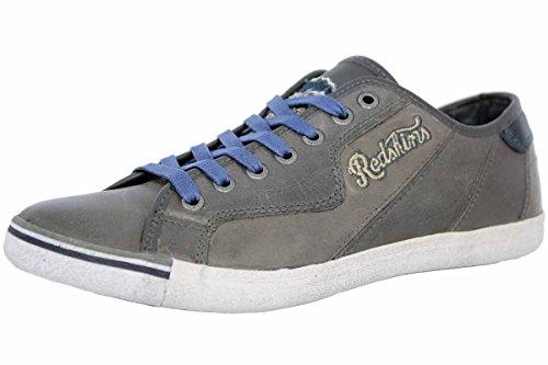 Sneaker Blu Redskins L'uomo Scarpe In Moda Grigia Verso Pelle L'alto wEExS6Tq