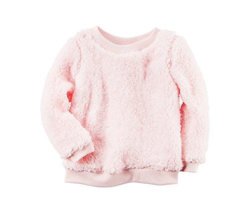 Carter's Girls' 2T-8 Sherpa Top Light Pink 4