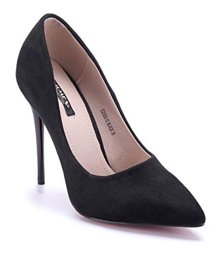 Schuhtempel24 Damen Schuhe Klassische Pumps Stiletto 12 cm High Heels Schwarz