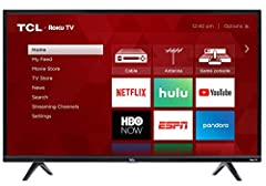 The 3 Series Full HD TCL Roku TV puts all your entertainment favorites in one place, allowing seamless access to over 500,000 movies and TV episodes, your cable box, gaming console, and other devices?all from your simple, intuitive interface....