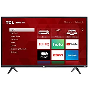 TCL 40S325 40 Inch 1080p Smart LED Roku TV (2019) Televisions
