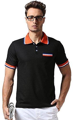 (ワトリズ)Whatlees メンズ ゴルフウェア 3ボタン付 無地 半袖ポロシャツ