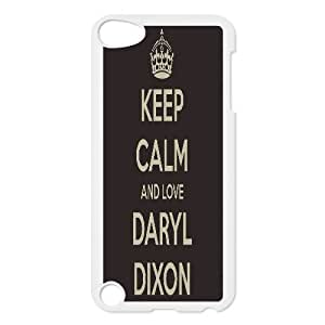 Keep Calm And Love Daryl Dixon ,TPU Phone case for ipod 5,white