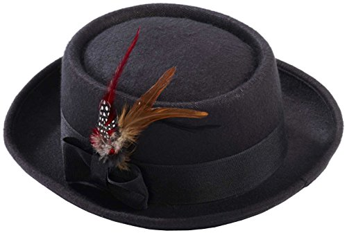 Men's Novelty Deluxe Pork Pie Hat