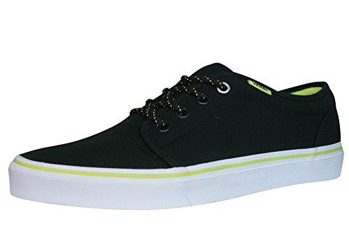Vans 106 Vulcanized - Zapatillas de skateboarding de lona para hombre negro negro negro