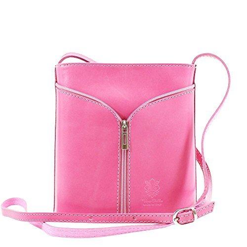 Vera Pelle Women Messenger Bag Red Pink