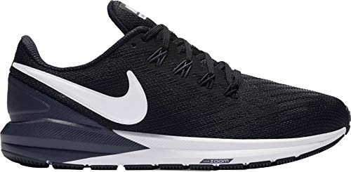 Nike Women's Air Zoom Structure 22 Running Shoe Black/White/Gridiron Size 9 M US