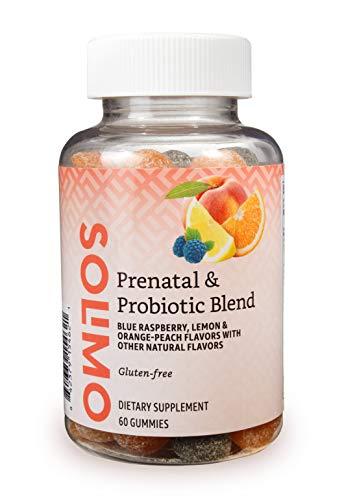 Amazon Brand – Solimo Prenatal & Probiotic Blend – Pregnancy Wellness – 70mg Omega 3 Fatty Acids with 20mg Probiotics…