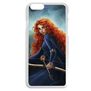Customized White Hard Plastic Disney Brave Princess Merida iPhone 6 4.7 Case, Only fit iPhone 6 4.7""