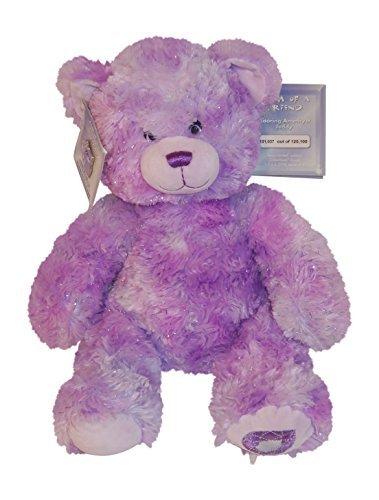 Build a Bear Workshop Gem of a Friend Adoring Amethyst Teddy
