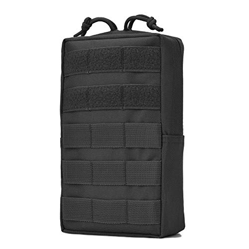Tactical Molle Pouch Military Compact Utility EDC Pouches for Tactical Backpack Assault Rig Vest Black]()