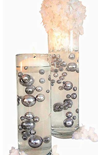 No Hole Silver Pearls- Jumbo/Assorted Sizes Vase Decorations - to Float The Pearls Order The Floating Packs from The Options Below