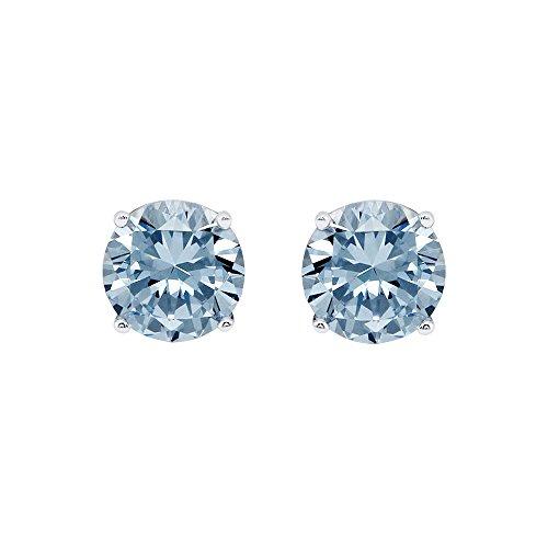 Cate & Chloe 2CT. TW. Beyonce Stud Earrings, Crystal Earrings, Gemstone Earrings, Stud Jewelry, Statement Jewelry, Best Earrings for Women, Teens, Girls (Blue Topaz) from Cate & Chloe