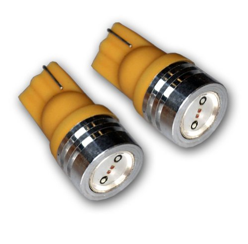 - TuningPros LEDFSM-T10-YHP1 Front Side Marker LED Light Bulbs T10 Wedge, High Power LED Yellow 2-pc Set