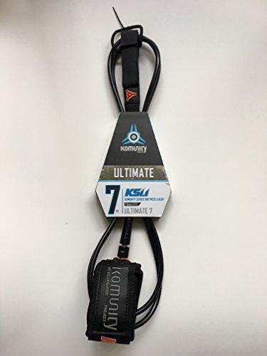 komunity 7 foot surfboard leash KS 1.1 – Ultimate 7'0″ One Piece Leash – 7mm black by Komunity Project