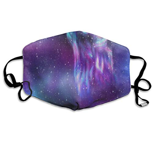 ZHOUSUN Dustproof Anti-Bacterial Washable Reusable Space Starry Sky Galaxy Nebula Howling Wolf Mouth Cover Mask Respirator Germ Protective Breath Healthy Safety Warm Windproof Mask ()