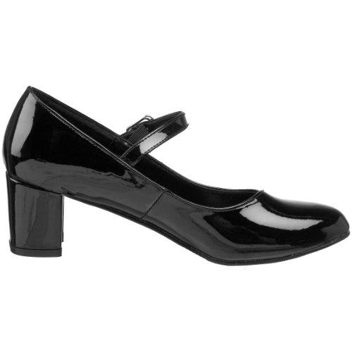 Tacn Zapatos 50 Mujer Schoolgirl Funtasma Con Negro Para fqxIfw