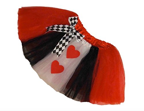 Southern Wrag Company Big Girls Adult Short Queen Of hearts Tutu (S:Tutu Waist 22-42)