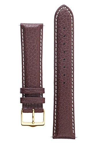 Signature Buffalo watch band. Replacement watch strap. Genuine Leather. Gold Buckle