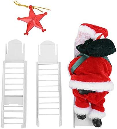 Kerstman Klimladder Kerstboomversieringen Kerstboom Hangers Hangende Ornament DIY Creatief Cadeau voor Thuis Festival Versieringen Vakantie Feest DecorB