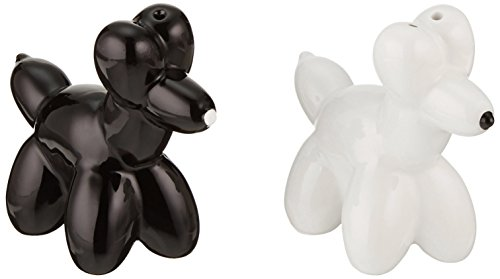 (American Atelier Dogs and White Salt and Pepper Shakers, Black)