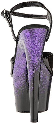 ELLIE Shoes Women's 709-Cari Platform Sandal, Purple, 10 M US
