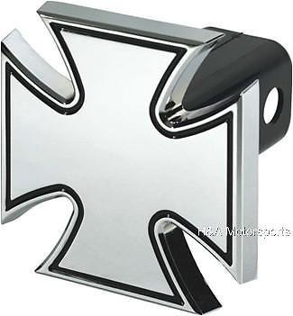 H-A-Motorsports 111694370214 Maltese Iron Cross Trailer Hitch Cover Aluminum 2