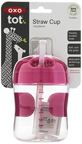 OXO Tot Twist Lid Straw Cup (7 oz.) - Pink by OXO