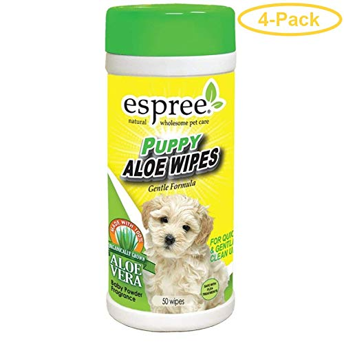 Espree Puppy Aloe Wipes 50 Count - Pack of 4