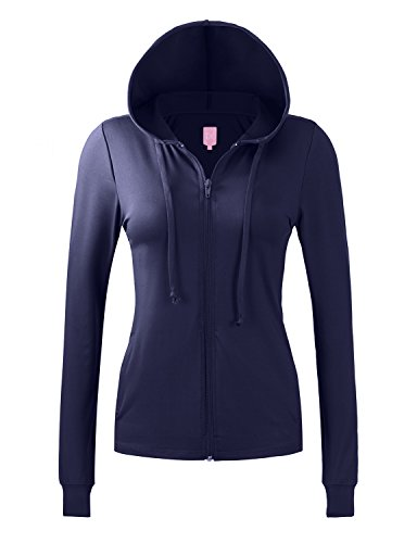 Regna X No Bother Womens Running Sports Jersey Yoga Full Zip up Hooded (Heavy Jersey Jacket)