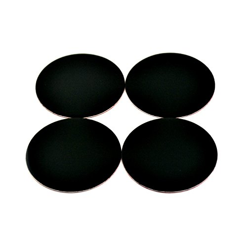 50mm Black Aluminum Car Wheel Center Hub Caps Base Sticker Set of 4