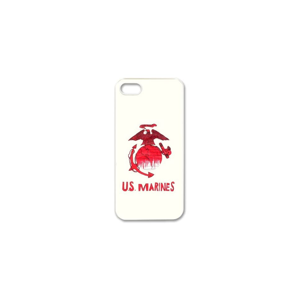 USMC marine corps logo anchor eagle design Iphone 5/5S hard plastic case