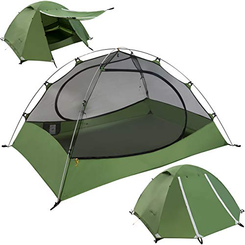 Lightweight 2 Person Backpacking Tent - Clostnature Lightweight 2-Person Backpacking Tent - 3 Season Ultralight Waterproof Camping Tent, Large Size Easy Setup Tent for Family, Outdoor, Hiking and Mountaineering