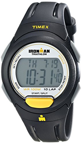 Timex Men's T5K779 Ironman Traditional 10-Lap Full-Size Sport Watch (Ironman Watch For Men)