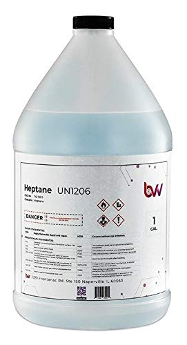 - BVV High Purity Lab Grade Heptane- 1 Gallon