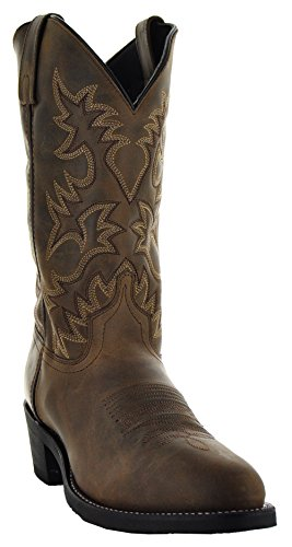 Soto Boots Round Toe Western Men's Boots by H3001 (9.5, Tan) (Round Cowboy Tan Boots)