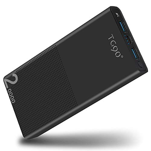 Power Bank 20000mah QC 3.0 Fast Charging Portable Charger External Battery Packs, Ultra High Capacity Cell Phone Battery Charger Compatible with iPhone, iPad, Samsung, Nintendo Switch and More