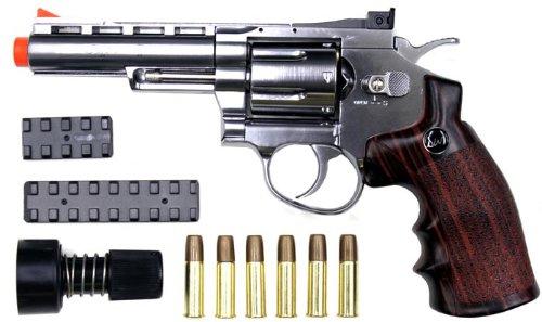 wingun 701s 4 revolver co2 gas gun sil(Airsoft Gun)